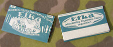 "Original German WWII Wehrmacht Issue ""Efka"" Cigarette Rolling Paper Packets (2)2"