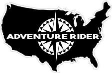 "#939 (1) 6"" Adventure Rider KLR R1200GS ADV Decal Sticker Laminated USA"