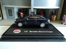 MODEL  POWER  MERCEDES BENZ  CLK  COUPE  BLUE 1/87  HO  DIE CAST