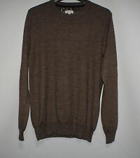 RIVER ISLAND brown wool blend jumper size S