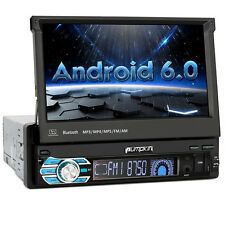 """Single 1 Din 7"""" In Dash Car Stereo GPS Touchscreen Android 6.0 NAV Bluetooth DAB"""