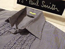 """PAUL SMITH Mens Shirt �� Size XL (CHEST 46"""") �� RRP £95+ �� CHECKS WITH RUFFLES"""