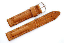 18 mm Brown Military Calf Leather Watch Strap Band