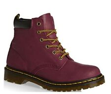 Dr. Martens 939 6-eye Hiker Deep Red Purple Suede Boots 5 RARE