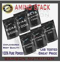 AMINO STACK - BCAA, D-AA, CREATINE, BETA ALANINE, GLUTAMINE, AGMATINE BEST VALUE