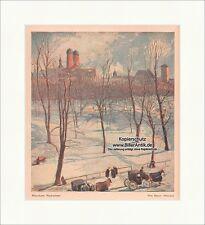 Munich nachwinter Fritz jardinier hiver paysage calèche cheval jeunesse 1541