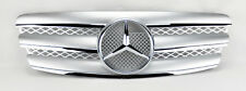 Mercedes E Class W211 03-06 3 Fin Front Hood Sport Silver Chrome Grill Grille