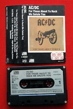 AC/DC FOR THOSE ABOUT TO ROCK 1981 ORIGINAL RARE GERMAN CASSETTE TAPE
