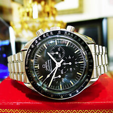 Mens OMEGA Speedmaster Professional Chronograph Stainless Steel Moon Watch