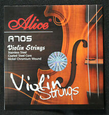 Violin Strings type A705  Coated Steel Core Nickel Chromium wound size 4/4