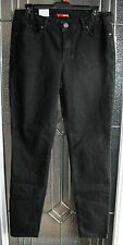 Women's Stretch Jeans Junior Size 11 Skinny Bongo Black Denim Straight NWT