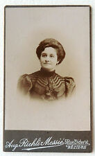 CDV PHOTO RICHLI MESSIÉ à BÉZIERS PORTRAIT FEMME L955