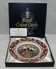 "Royal Crown Derby - 1998 Christmas 8 1/2"" Plate 2/4 - Ltd. ed - box/certificate"