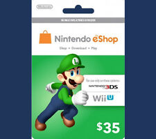 US / USA $35 Nintendo 3DS Wii U Prepaid Points Card eShop - WORLDWIDE SHIPPING!!