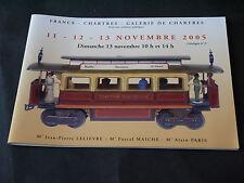CATALOGUE JOUETS ANCIENS GALERIE DE CHARTRES VENTES 11-12-13 NOVEMBRE 2005