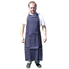 HAWK AD019 - Denim Apron Long Knee High Wood Working - Shop Use Home Catering.