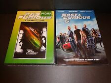THE FAST & THE FURIOUS w/FAST & FURIOUS 6-2 movies-PAUL WALKER, VIN DIESEL, ROCK