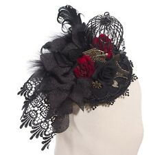 RQ-BL Fascinator Steampunk Vintage Kopfschmuck Gothic Lolita Hut Headpiece SP038