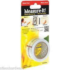 Adhesive Backed Measuring Tape Repositionable Self Stick Ruler Tape Measure It