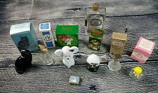Lot of 8 Vintage Avon Glass Bottles Decanters Perfume Empty Used Bundle