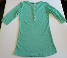 Women's Mint Green 3/4 Sleeve 6 Button Top size S by Junk Food Brand NWD