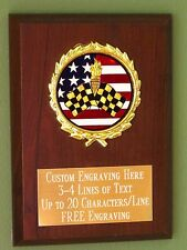Racing/Checkered Flags/Sport/Flag Award Plaque 4x6 Trophy FREE engraving