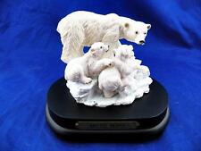 "Vintage Arctic Bears Music Box ""Families of the Wild Collection"" EUC Free Ship!"