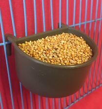 1 X Dog Cat Bird Rabbit Cage Clip On Water Food Bowl Countainer 2 Hook Cup 7 cm