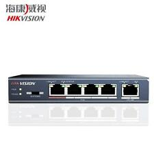 Hikvision 4-ports 100Mbps Unmanaged PoE Switch IEEE802.3 at/af Max 250m