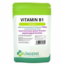Vitamin B1 Thiamin 3-PACK 300 Tablets Mosquito Repellent Energy B 1 B-1 Thiamine
