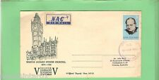 #D40.  1966  NEW ZEALAND  STAMP COVER -  WINSTON CHURCHILL