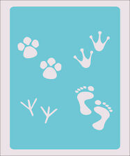 Foot Print Prints Stencil Crafts Paint Color Wall Decoration  Kids Template #37
