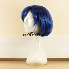 Sailor MERCURY MIZUNO AMI Corto Blu Bob Costume Cosplay Parrucca. UK venditore