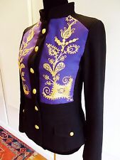 KOKO ROMANOV 'MAHARAJAH'    MILITARY  JACKET WITH ELABORATE EMBROIDERY  M