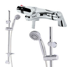 BAGNO Doccia Termostatico Mixer Chrome rubinetto Deck Mounted ECO SLIDE RAIL KIT TUBO FLESSIBILE
