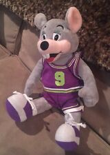 "Chuck E. Cheese Cheese's Mouse Plush Doll #9 Purple Basketball Outfit 13"" Tall"