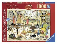 RAVENSBURGER PUZZLE*1000 TEILE*CRAZY CATS IN THE CRAFT ROOM*LINDA JANE SMITH*OVP