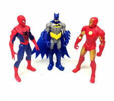 "Marvel & Dc Universe 3.75"" action figures IRONMAN, BATMAN, SPIDERMAN set lot"