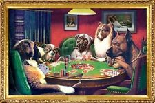 """DOGS PLAYING POKER POSTER """"BRAND NEW"""" LARGE """"61 cm X 91.5 cm"""" LICENSED"""