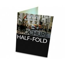 "5000 Half Fold Glossy Brochures REAL PRINTING not copies 8 1/2"" x 11"" Full Color"