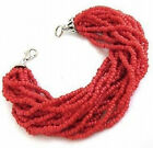 Beautiful new tibet silver red coral color beads bracelet