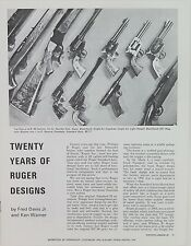 1978 RUGER 20 YEARS OF RUGER DESIGNS BOOKLET.