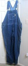 SALE!!!  Men's Blue Denim Overalls Plus Size 58/32 4/5X Berne Apparel Dark