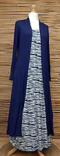 LAGENLOOK AMAZING BOHO SOFT LONG MAXI CARDIGAN/COAT*NAVY* SIZE M/L BUST 34-38""