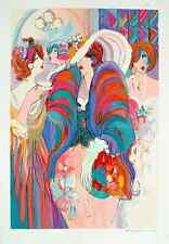 """Isaac Maimon - """"Reception"""", hand-signed serigraph, Framed (1993)"""