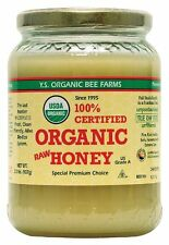 YS Organic Bee Farms 100% CERTIFIED ORGANIC RAW HONEY, Unprocessed, Unpasteurize