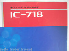 Icom-718 (Genuino folleto sólo).......... radio_trader_ireland.