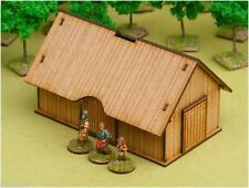 Dark Age TIMBER PLANKED BARN/HOUSE 28mm Laser cut MDF scale Building  J012