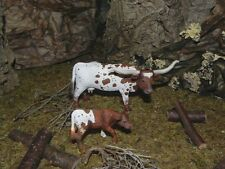Texas Longhorn Cow and Calf Animal Figurines Animal West Diorama
