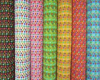 Crazy Colourful Daisies Brilliant Floral Flower Polycotton Fabric By The Metre